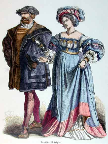 German Lord and Lady, 16th C.