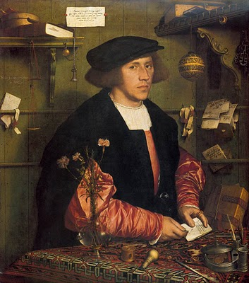 A German merchant in 1531. Note that the middle class is now able to afford rich dress