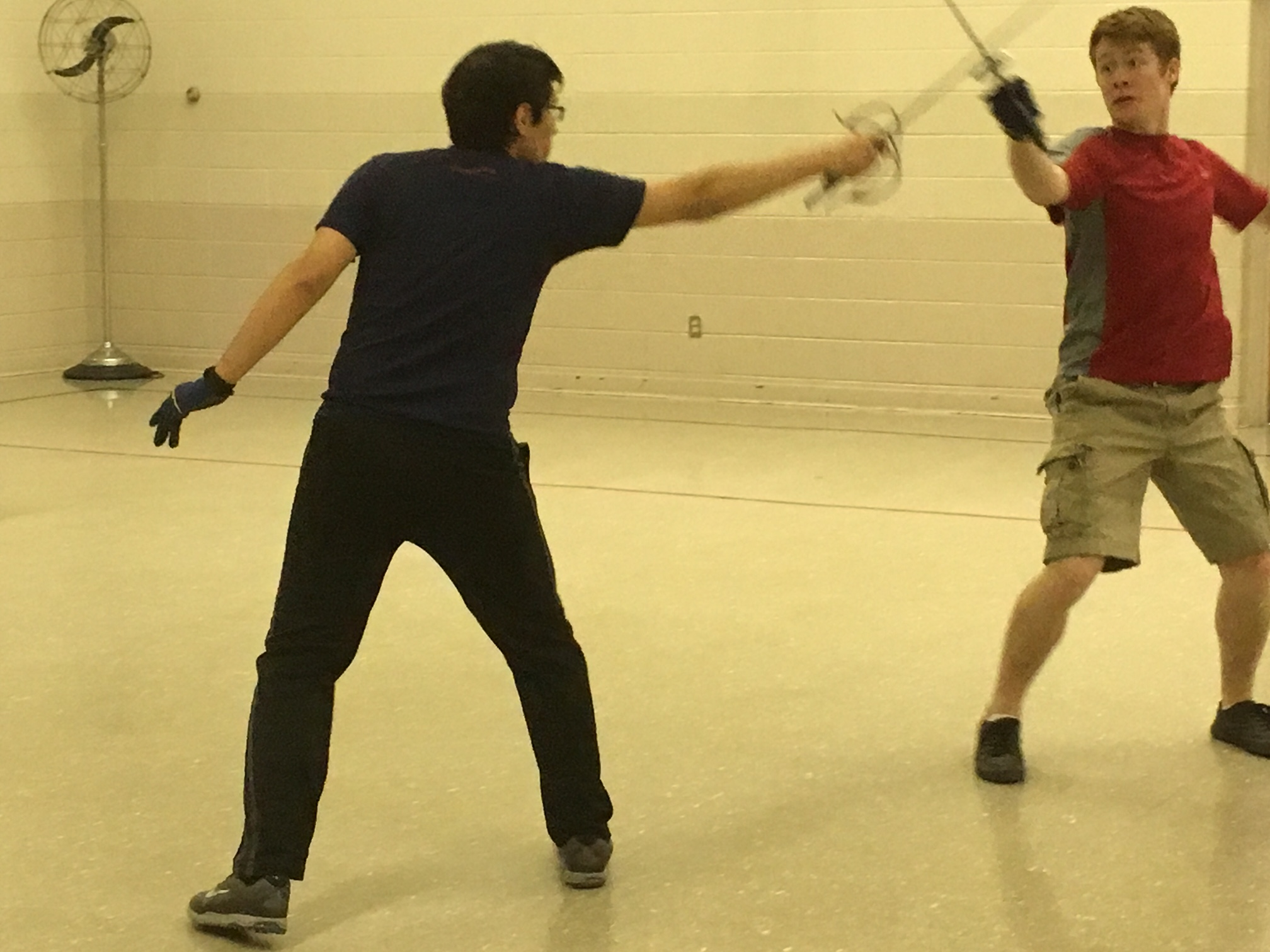 Tybalt and Mercutio learn their fight choreography