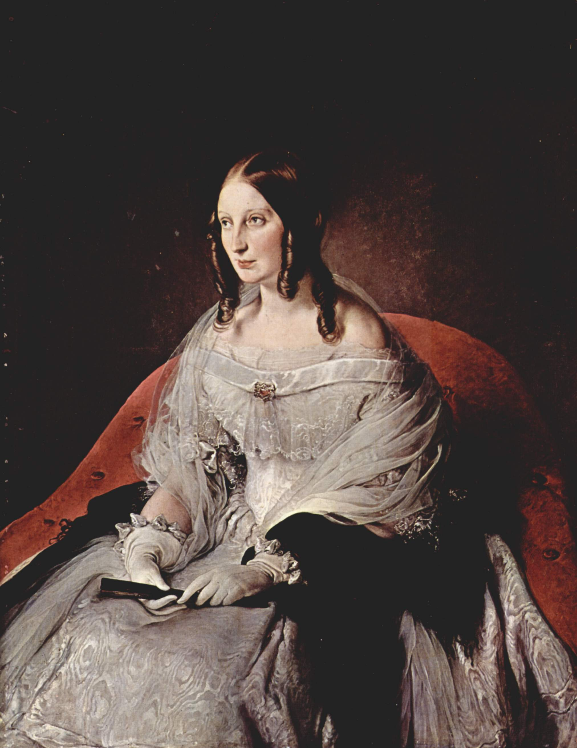 severe gown of 1840s